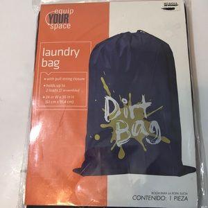 NIP Bed Bath & Beyond Black Laundry Bag 2 Loads